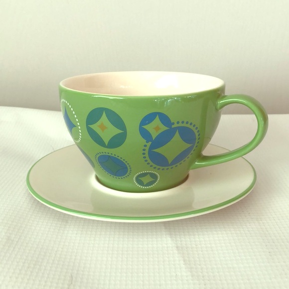 Starbucks 2006 elf green plate and mug set